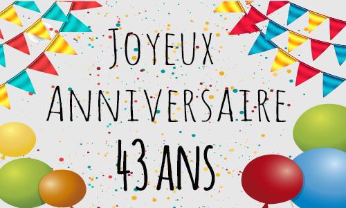 Carte d anniversaire gratuite imprimer 43 ans - Carte anniversaire 80 ans gratuite a imprimer ...