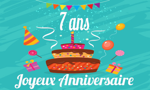 carte anniversaire humour 7 ans gateau drole. Black Bedroom Furniture Sets. Home Design Ideas