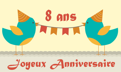 carte anniversaire humour 8 ans poussin. Black Bedroom Furniture Sets. Home Design Ideas