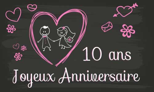 anniversaire mariage 10 ans