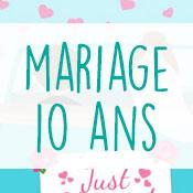 Carte anniversaire mariage 10 ans