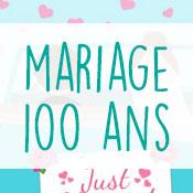 Carte anniversaire mariage 100 ans