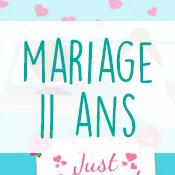 Carte anniversaire mariage 11 ans