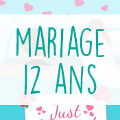 Carte anniversaire mariage 12 ans