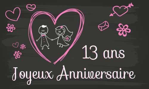 Carte Anniversaire Mariage 13 Ans Virtuelle Gratuite A