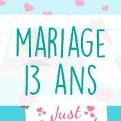 Carte anniversaire mariage 13 ans