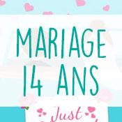 Carte anniversaire mariage 14 ans