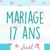 Carte anniversaire mariage 17 ans