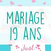 Carte anniversaire mariage 19 ans