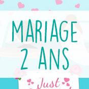 Carte anniversaire mariage 2 ans