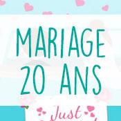 Carte anniversaire mariage 20 ans