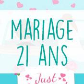 Carte anniversaire mariage 21 ans