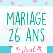 Carte anniversaire mariage 26 ans