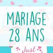 Carte anniversaire mariage 28 ans