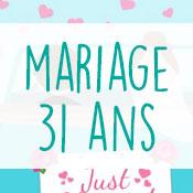 Carte anniversaire mariage 31 ans