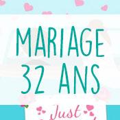 Carte anniversaire mariage 32 ans
