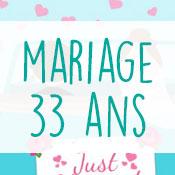Carte anniversaire mariage 33 ans