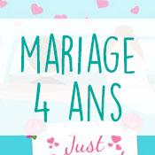 Carte anniversaire mariage 4 ans