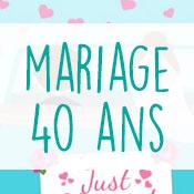 Carte anniversaire mariage 40 ans
