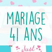 Carte anniversaire mariage 41 ans