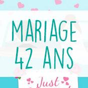 Carte anniversaire mariage 42 ans