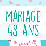 Carte anniversaire mariage 48 ans