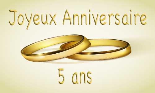 carte anniversaire de 5 ans de mariage