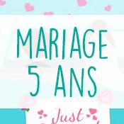 Carte anniversaire mariage 5 ans