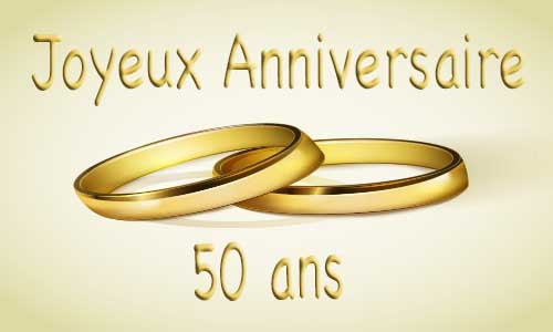 carte anniversaire mariage 50 ans bague or. Black Bedroom Furniture Sets. Home Design Ideas