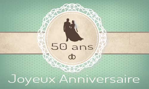 carte anniversaire mariage 50 ans maries bague. Black Bedroom Furniture Sets. Home Design Ideas