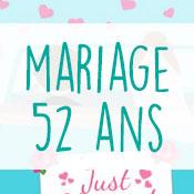 Carte anniversaire mariage 52 ans