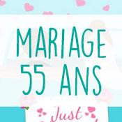 Carte anniversaire mariage 55 ans