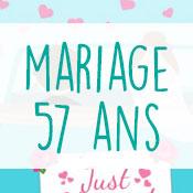 Carte anniversaire mariage 57 ans