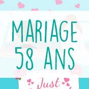 Carte anniversaire mariage 58 ans