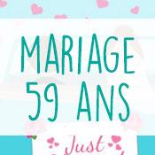Carte anniversaire mariage 59 ans