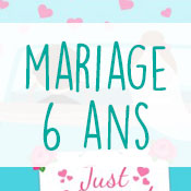 Carte anniversaire mariage 6 ans
