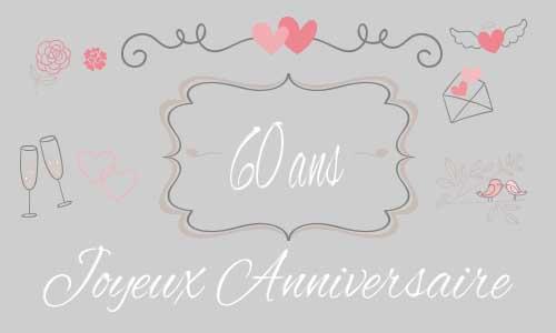 Bien connu Carte d'invitation anniversaire de mariage 60 ans – Votre heureux  BV61