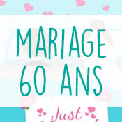 Carte anniversaire mariage 60 ans