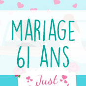 Carte anniversaire mariage 61 ans