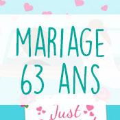 Carte anniversaire mariage 63 ans