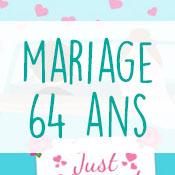 Carte anniversaire mariage 64 ans