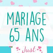 Carte anniversaire mariage 65 ans