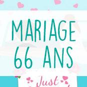 Carte anniversaire mariage 66 ans