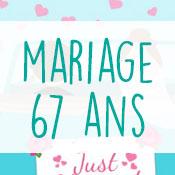 Carte anniversaire mariage 67 ans