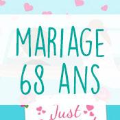Carte anniversaire mariage 68 ans