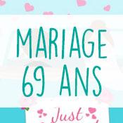 Carte anniversaire mariage 69 ans