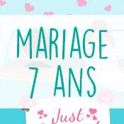 Carte anniversaire mariage 7 ans