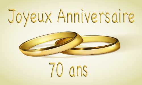carte anniversaire mariage 70 ans bague or. Black Bedroom Furniture Sets. Home Design Ideas