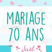 Carte anniversaire mariage 70 ans