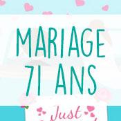 Carte anniversaire mariage 71 ans